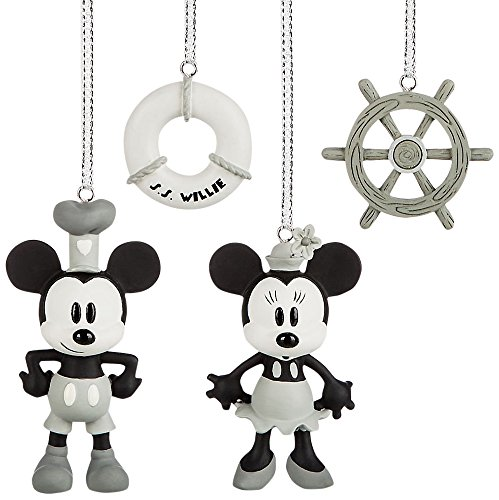 Disney Steamboat Willie Mini Ornaments Box Set