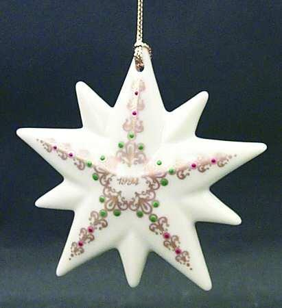 Lenox 1994 Star Ornament Mint in Original Box