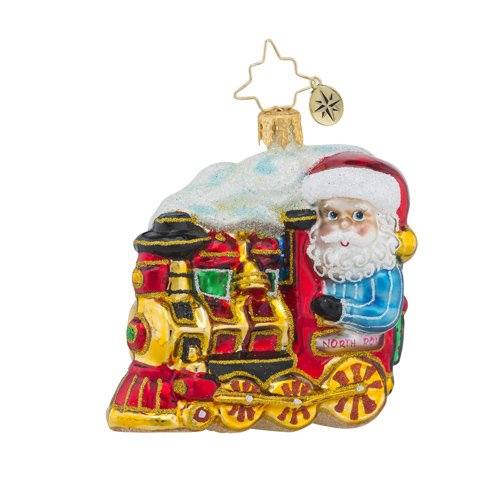 Christopher Radko North Pole Express Little Gem Train Christmas Ornament