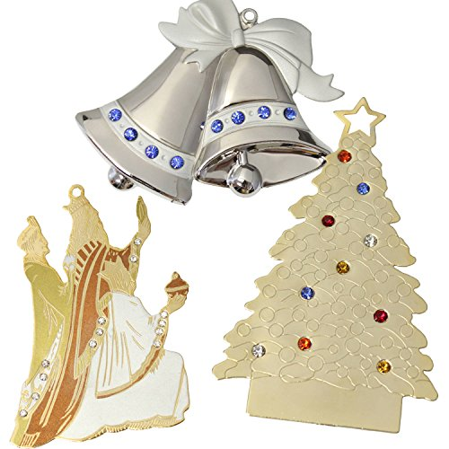 Gloria Duchin Jewel Christmas Ornaments, 6-Piece Set