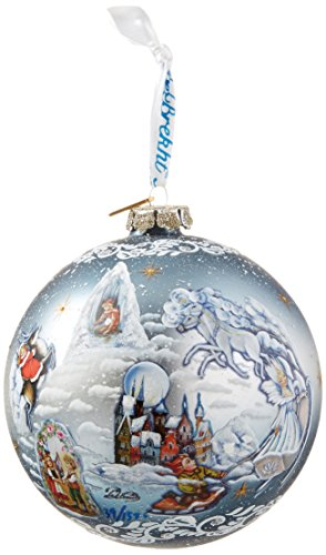 G. Debrekht Limited Edition Snow Queen  Glass Ball Ornament, 5.5″