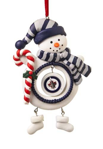Winnipeg Jets Jolly Christmas Snowman Ornament