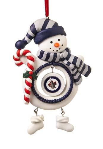Winnipeg Jets Jolly Christmas Snowman Ornament