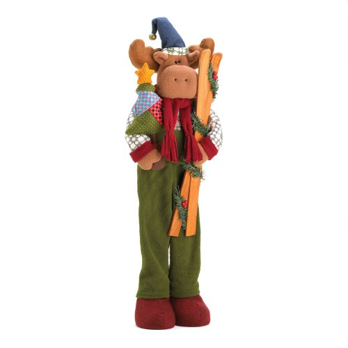 Koehler Home Decor Festival Seasonal Patchwrok Christmas Tree Kids Plush Moose Holiday Decor