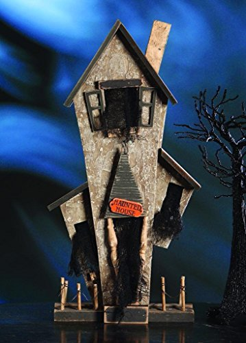 Bethany Lowe Trick or Treat Collection Spooky Halloween Haunted House, 22″x11″