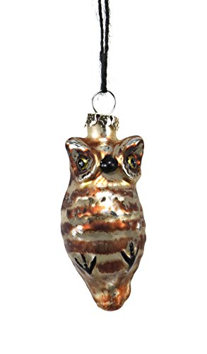 Sage & Co. XAO19115BR Antiqued Glass Owl Ornament (12 Pack)