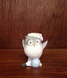 Owl on Ornament Figurine