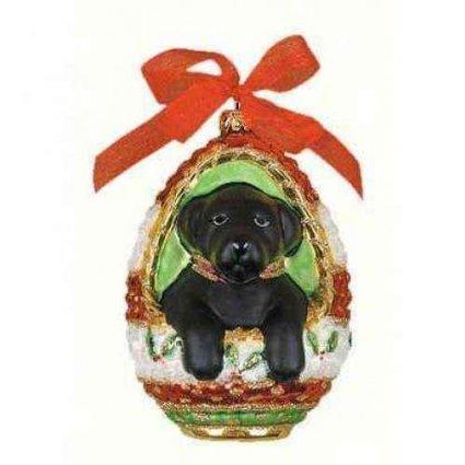 Cobane Studio LLC COBANED288 Playful Puppy Black Lab Ornament