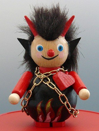 Steinbach Christmas Ornament Little Devil with a Heart, Authentic German Import