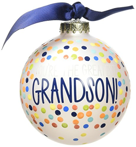 Coton Colors You're the Greatest Grandson Glass Ornament