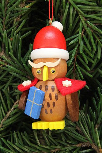 Tree ornaments Tree ornament owl Santa Claus – 3,2×6,2cm / 1.3×2.4inch – Christian Ulbricht