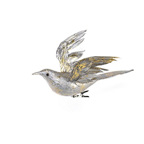 Sage & Co. XAO20191SV Feather Birds Ornament (6 Pack)