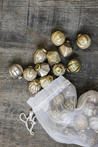 Creative Co-Op 1 mercury glass ornaments, gold, set of 36 by Creative Co-op