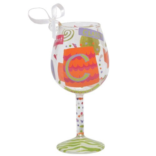 Santa Barbara Design Studio Lolita Holiday Mini-Wine Ornament, Letter C
