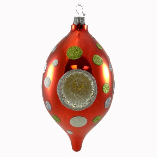 CHRISTOPHER RADKO WINTER WHIMSY Glass Celebrations Drop Ornament 5500062 Sphere