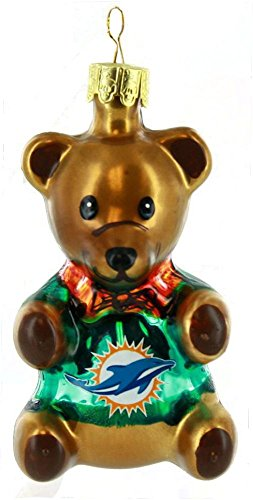 The Boelter Companies 136-MIADOL Teddy Bear Ornament – Miami Dolphins
