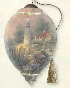 "Ne'Qwa Art Christmas Gifts Limited Edition ""The Light of Peace"" Artist Thomas Kinkade Princess-Shaped Glass Ornament 7124111"