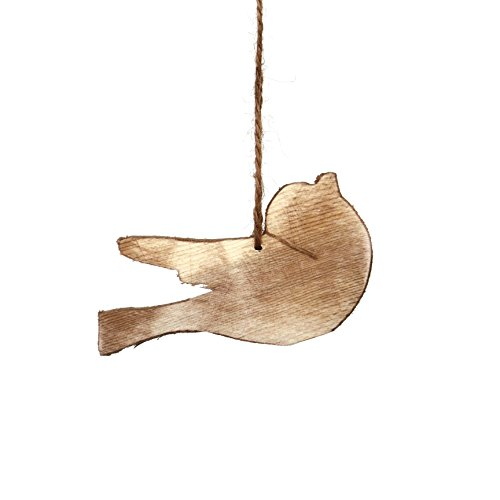 Sage & Co. XAO19739BR Wood Bird Ornament (6 Pack)