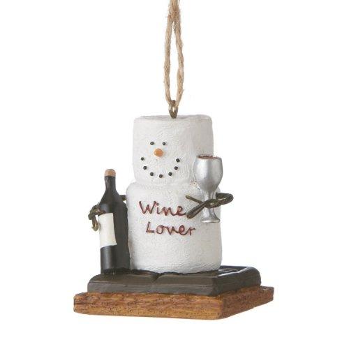 Smores Wine Lover Christmas Ornament