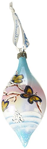 G. Debrekht Butterfly Glass Ornament Drop, 5.5″