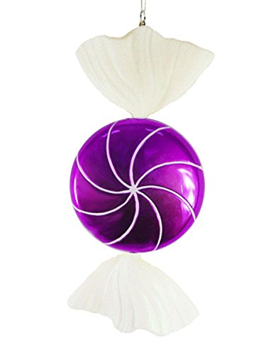 Vickerman 18″ Candy Fantasy Wrapped Purple Grape Christmas Decoration Ornament, Large