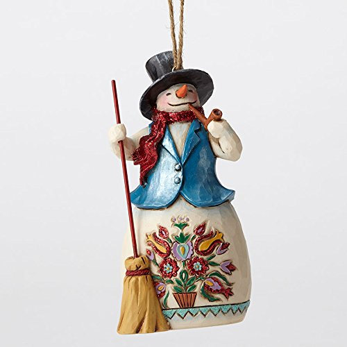 Jim Shore Winter Wonderland Snowman with Broom Christmas Ornament 4053702 HWC
