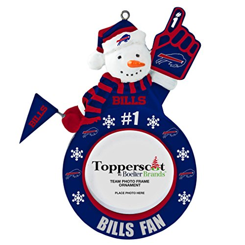 NFL Buffalo Bills Snowman Frame Ornament