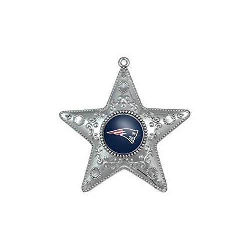 NFL Licensed Silver Star Ornament (New England Patriots)