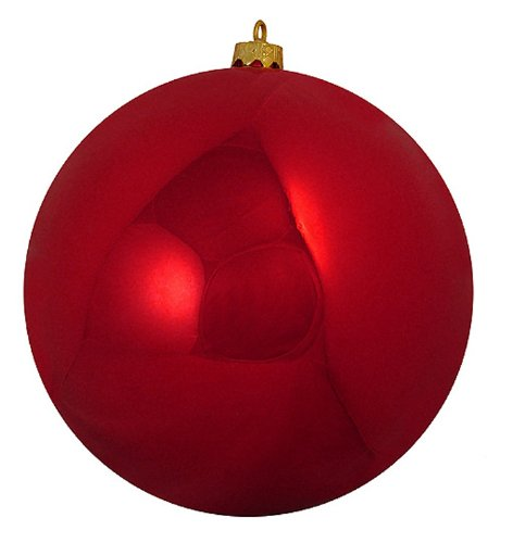 Shiny Red Hot Commercial Shatterproof Christmas Ball Ornament 6″ (150mm)
