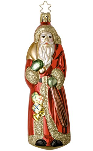Saint Nicholas, #1-018-01, from the 2001 Santa Land Collection by Inge-Glas; Gift Box Included