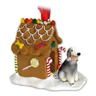 Conversation Concepts Bedlington Terrier Gingerbread House Christmas Ornament