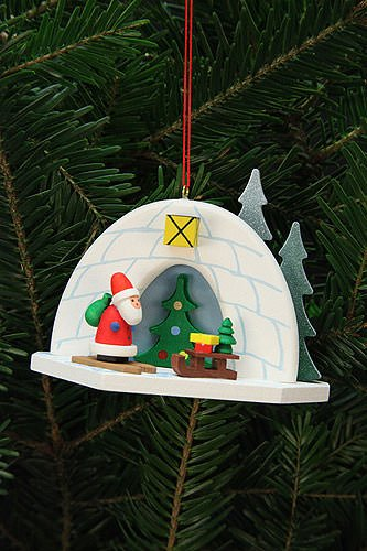 Tree ornaments Tree Ornaments Igloo with Niko – 9,2×7,0cm / 4×3 inch – Christian Ulbricht
