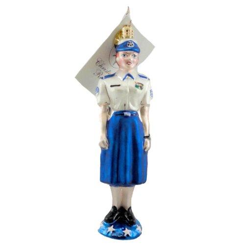 Christopher Radko SHE WHO SERVES Blown Glass Ornament Patriotic Military