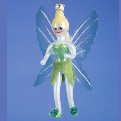 De Carlini Tinkerbell Italian Mouthblown Glass Christmas Ornament