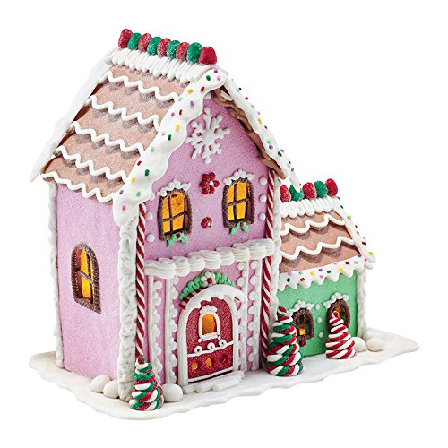 Department 56 Mrs. Claus Sweet Shoppe Lit Gingerbread Sweet Shoppe Ornament, 8.5″