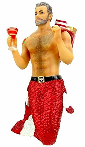 December Diamonds Santa Daddy II Merman Ornament by December Diamonds