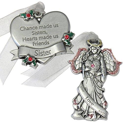 Personalized Gloria Duchin 2pc Sister Ornament Gift Set
