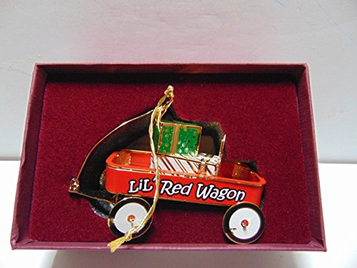 Baldwin LIL RED WAGON Brass Ornament with 24K Gold Overlay