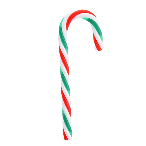 Pack of 12 Red, Green and White Striped Candy Cane Christmas Ornaments 5.75″