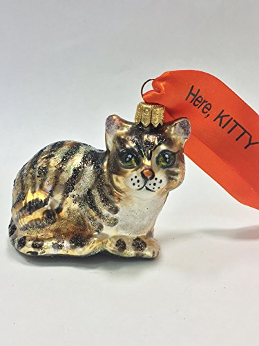 Ornaments to Remember: KITTY CAT Christmas Ornament (Black/Orange)