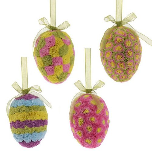 RAZ Imports Easter 5″ Egg Ornament Set of 4