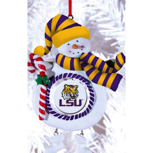 Louisiana State University Jolly Christmas Snowman Ornament