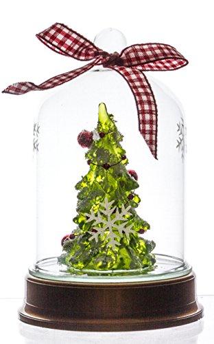 Light Up Waterless Glass Snow Globe – Glowing Christmas Tree Dome, 5.5″h