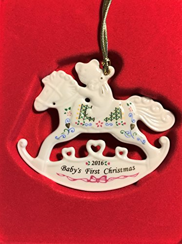 Lenox 2016 Baby's First Christmas Rocking Horse Ornament #858736