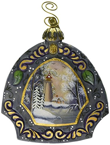 G. Debrekht 3-1/2 Inch Harbor Light Scenic Ornament