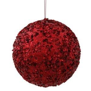 Vickerman 6″ Red Sparkle Sequin Ball Ornament
