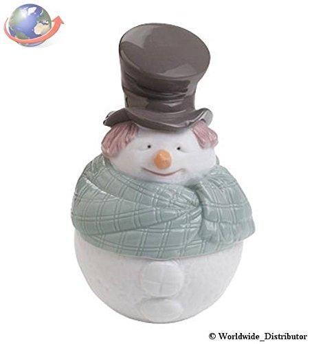 Lladro Nao Porcelain Figurine Deco Snowman Box