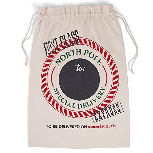 Mud Pie Sleigh Mates Christmas Bags Holiday Gift Sack (North Pole)