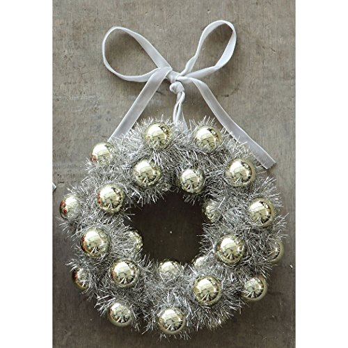 Silver Wreath Ornament
