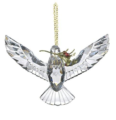 Ganz 6.5″ Krystal Dove With Floral Sprig (Green)